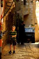 Kid in the streets of jerusalem